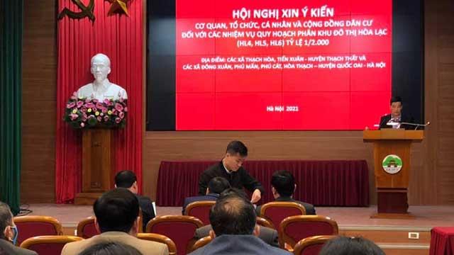Huyện Quốc Oai: Xin ý kiến cộng đồng dân cư đối với quy hoạch phân khu đô thị Hòa Thạch, Hòa Lạc