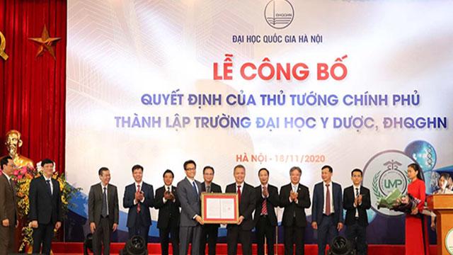 Thủ tướng ký Quyết định thành lập Trường ĐH Y Dược thuộc ĐH Quốc Gia Hà Nội