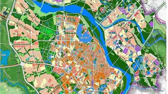 Bản đồ quy hoạch chi tiết Hà Nội 2021 và tầm nhìn 2050