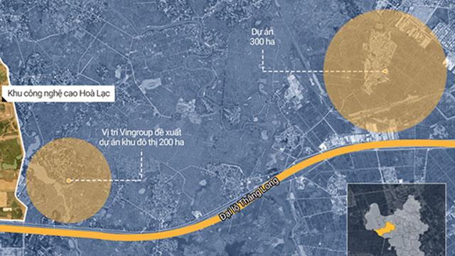 Vingroup muốn xây thêm 2 khu đô thị quy mô 500 ha tại Hòa Lạc