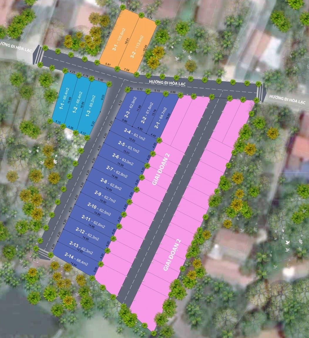 Vị trí khu đất nền Hòa Lạc 19 lô Đồng Trúc, Thạch Thất, Hà Nội