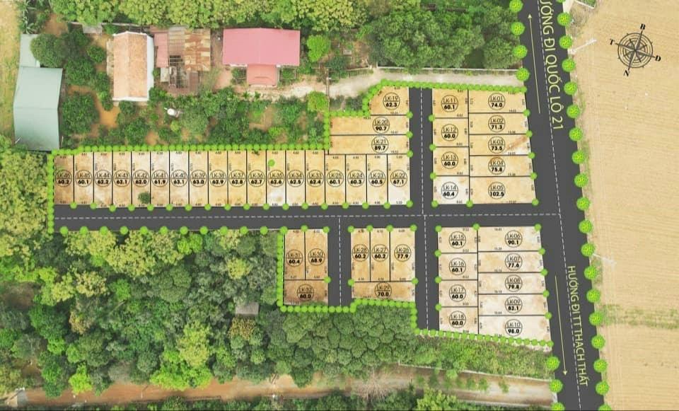 Vị trí khu đất nền sổ đỏ 46 lô Linh Sơn, Bình Yên, Thạch Thất, Hà Nội
