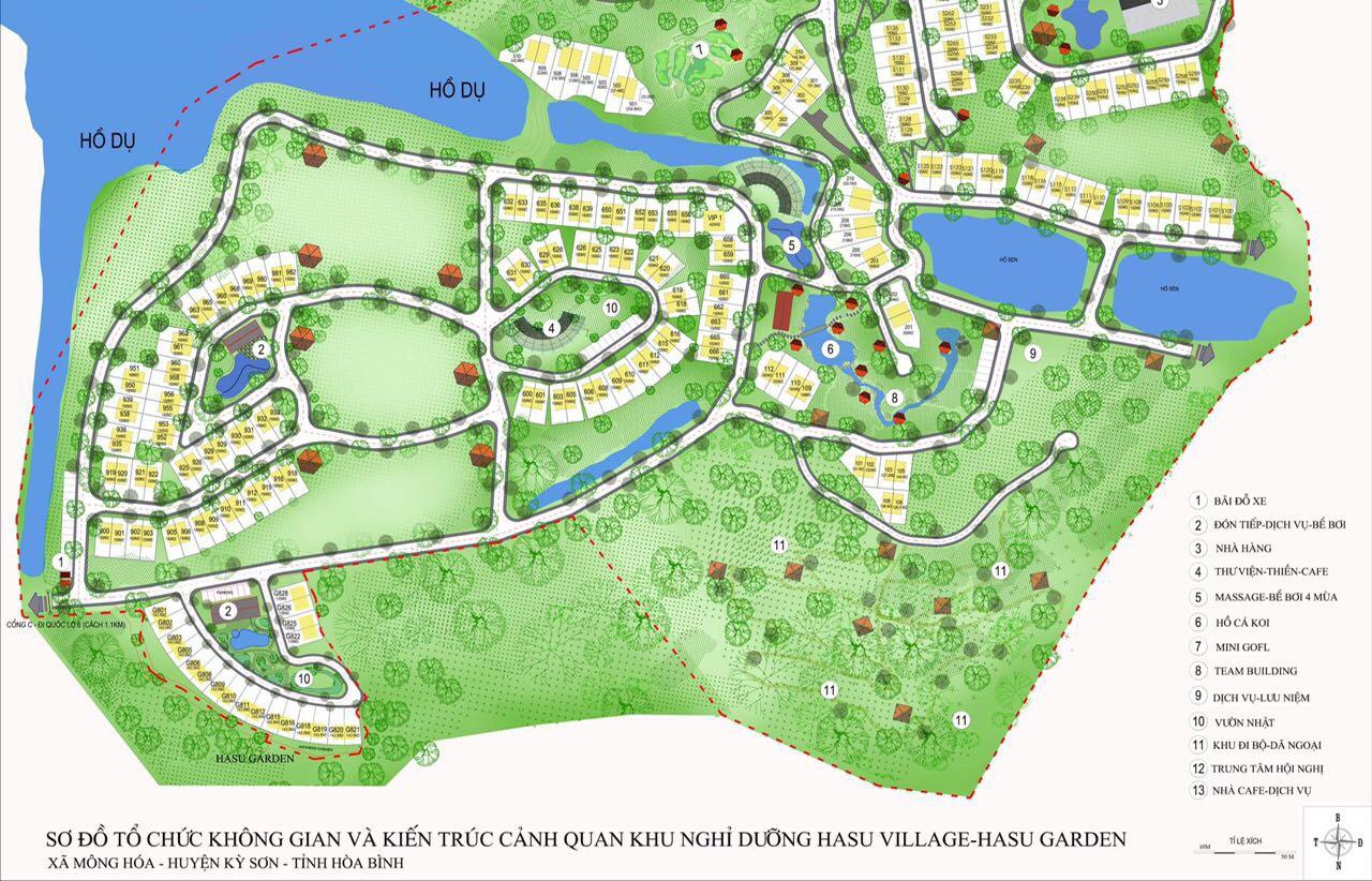 Vị trí dự án biệt thự nghỉ dưỡng Hasu Village Hòa Bình