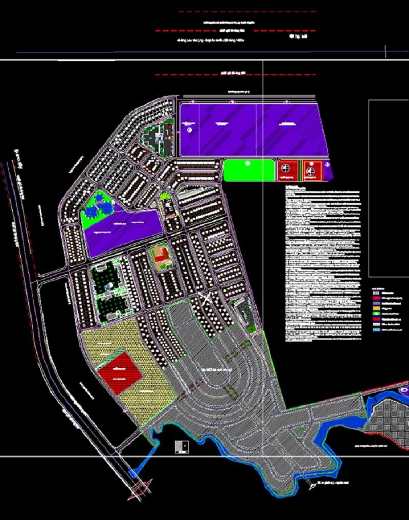 Bản đồ phân lô khu tái định cư Thạch Hòa - TĐC Bắc Phú Cát