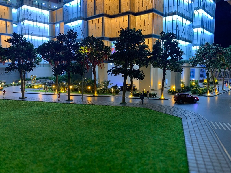 Mặt bằng chung cư BRG Diamond Residence Lê Văn Lương - Hoàng Đạo Thúy