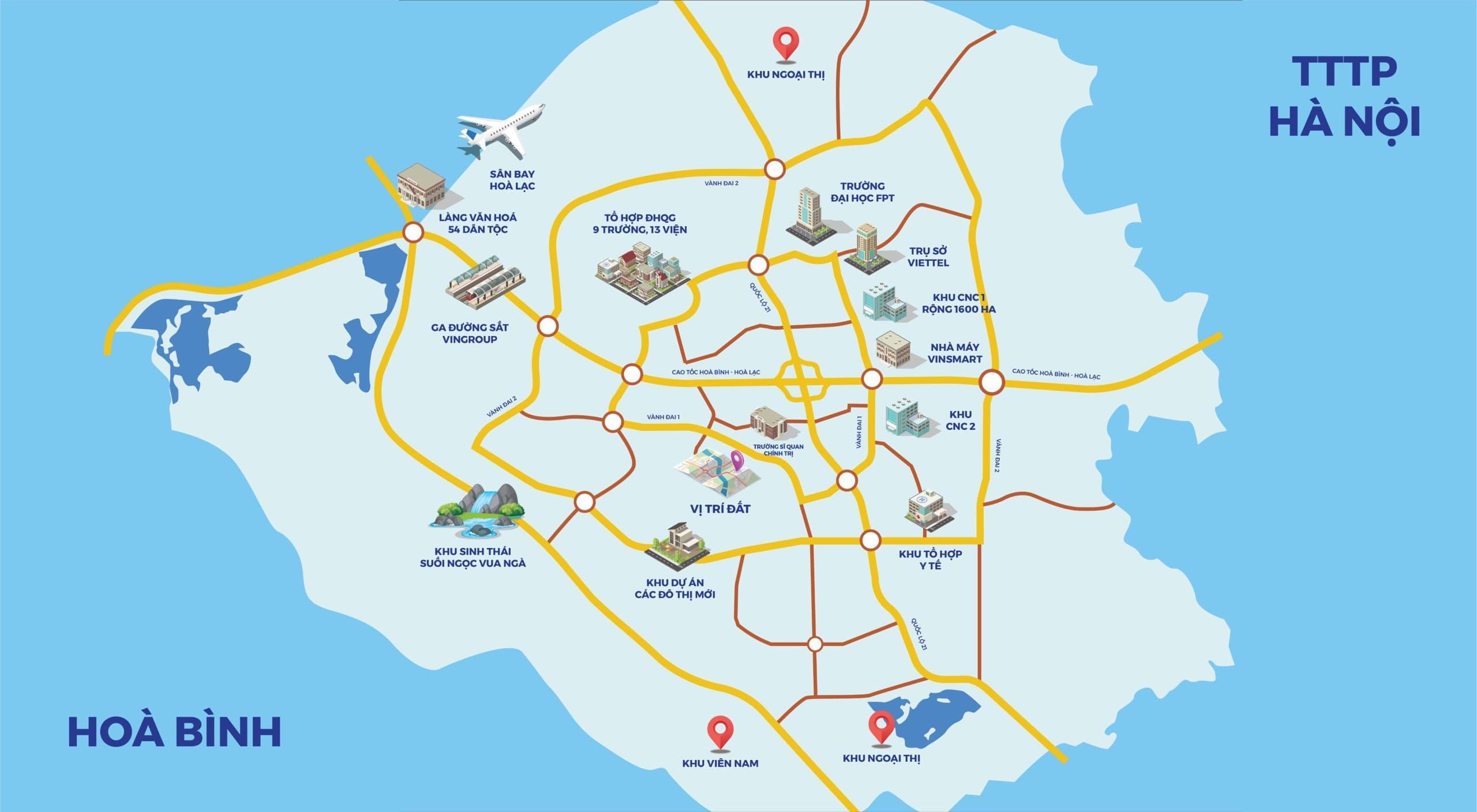 Vị trí khu đất phân lô sổ đỏ 14 lô Phú Mãn - Hòa Lạc