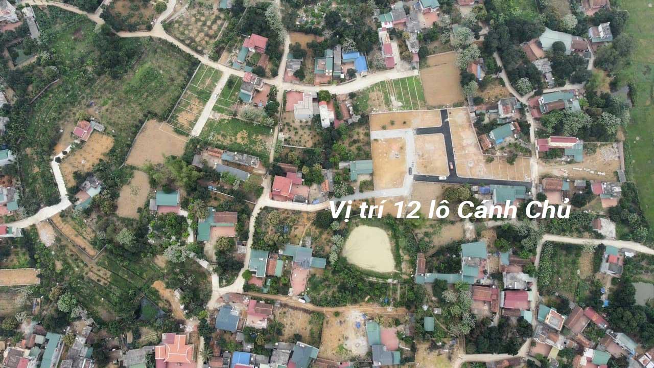 Mặt bằng khu đất 12 lô Cánh Chủ, Xã Bình Yên, Huyện Thạch Thất, TP Hà Nội