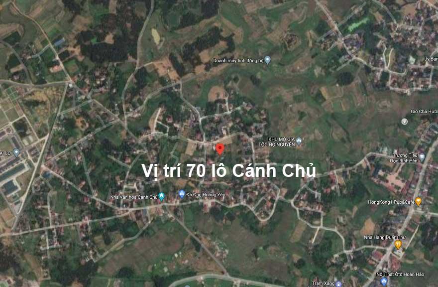 Vị trí khu đất phân lô 70 lô Cánh Chủ Xã Bình Yên, Đất nền Hòa Lạc 2021