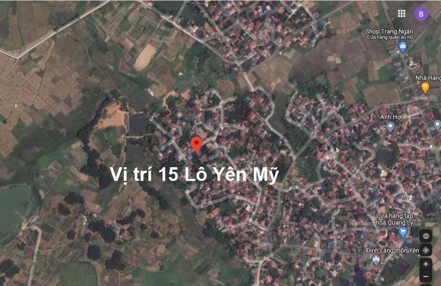 Vị trí khu đất sổ đỏ Hòa Lạc 15 lô đất nền thôn Yên Mỹ, xã Bình Yên, huyện Thạch Thất, TP Hà Nội