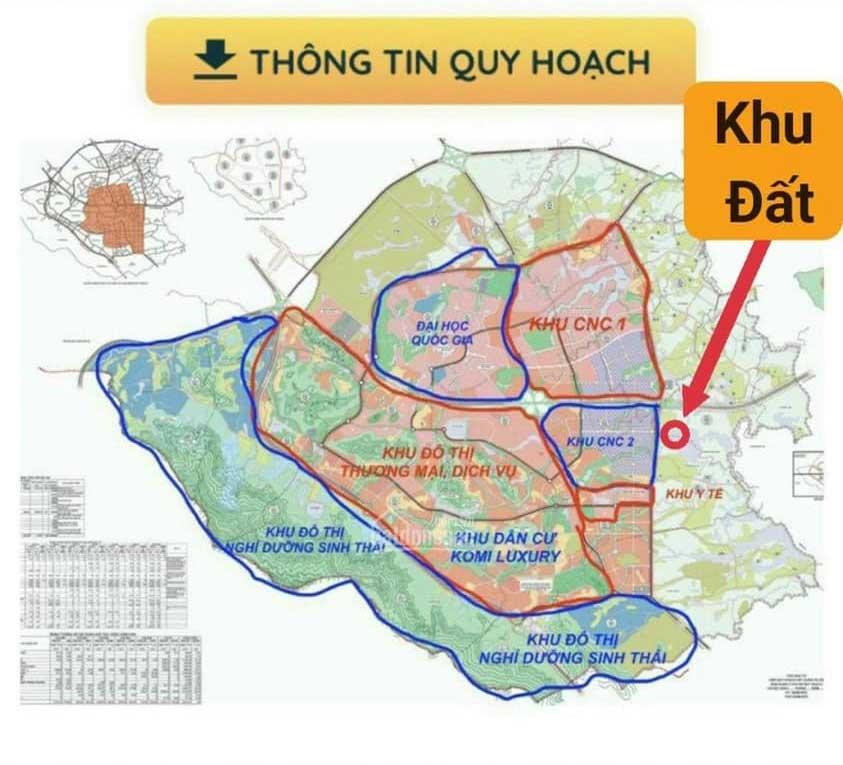 Vị trí 36 lô đất nền Khoang Mái, Đồng Trúc - Đất Nền Khu CNC Hòa Lạc