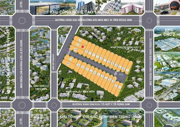 Mặt bằng thiết kế khu đất 29 lô Phú Cát