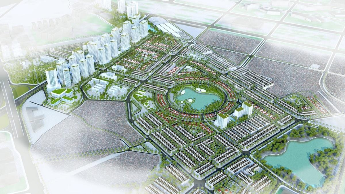 Mặt bằng dự án khu đô thị Kim Chung Di Trạch