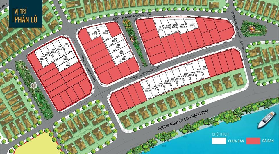 Mặt bằng phân lô dự án Marina Diamond Town