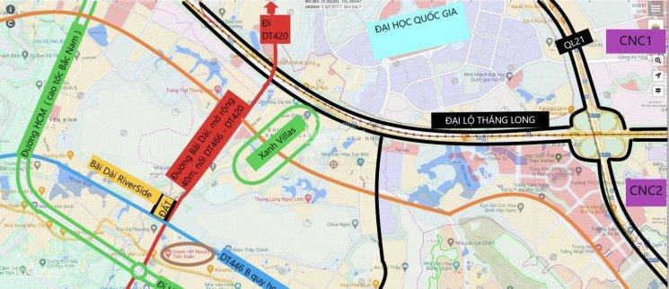 Vị trí 109 lô đất nền trục chính đường Bãi Dài, xã Tiến Xuân, huyện Thạch Thất, TP Hà Nội