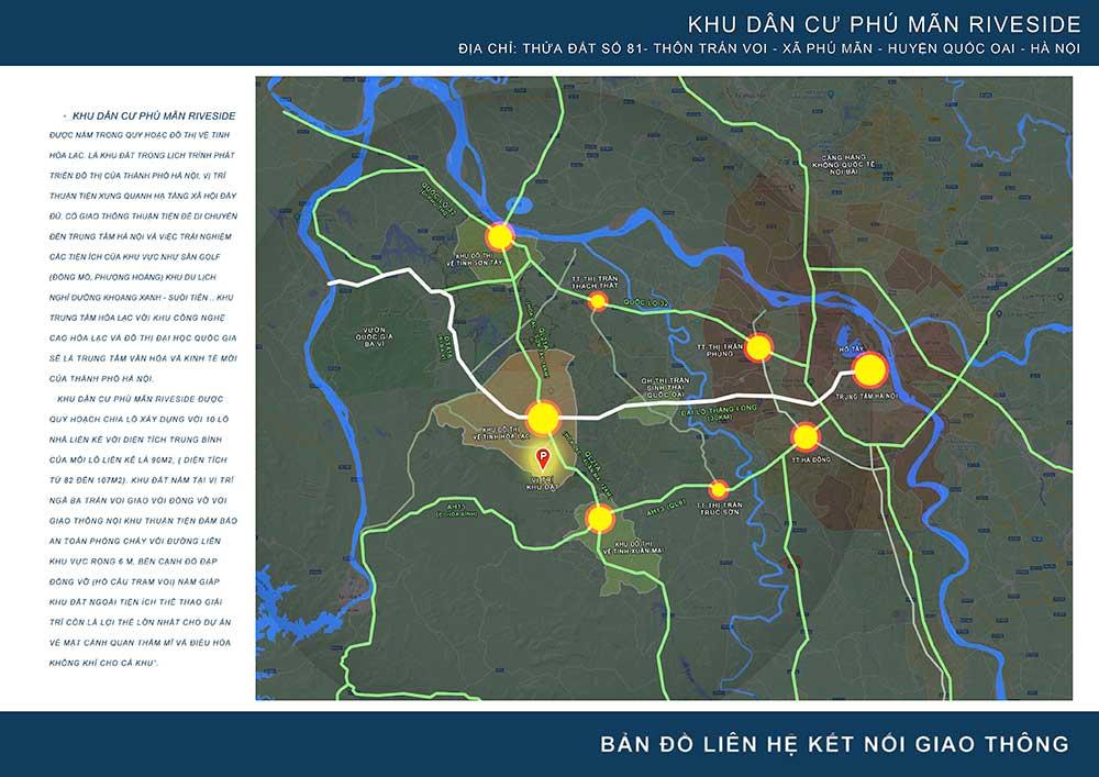 Vị trí khu đất Hòa Lạc 10 lô Phú Mãn Riverside