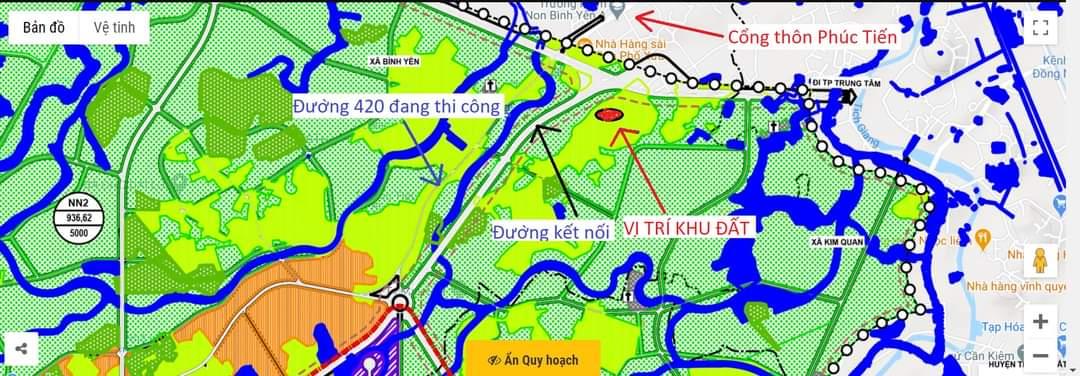 Mặt bằng phân lô khu đất 30 lô Phúc Tiến 5, xã Bình Yên, huyện Thạch Thất, TP Hà Nội