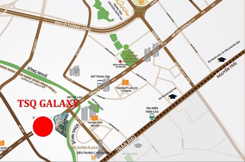 Mặt bằng dự án TSQ Galaxy - Ngân Hà Vạn Phúc