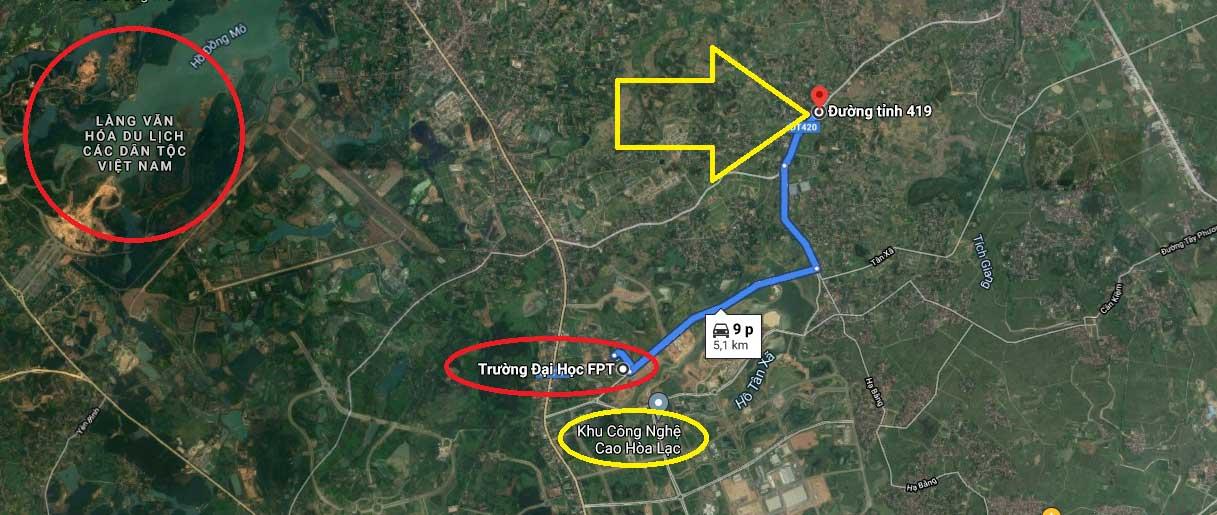 Liên kết vùng khu đất nền Hòa Lạc 15 lô Đồi Sen - Xã Bình Yên - Huyện Thạch Thất - TP Hà Nội