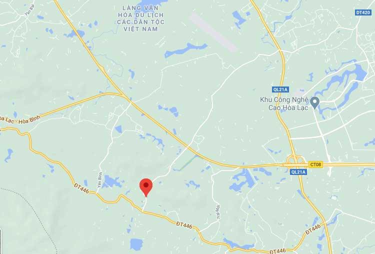 Vị trí khu đất 72 lô đất nền Bãi Dài, Hòa Lạc, gần khu đô thị Xanh Villas