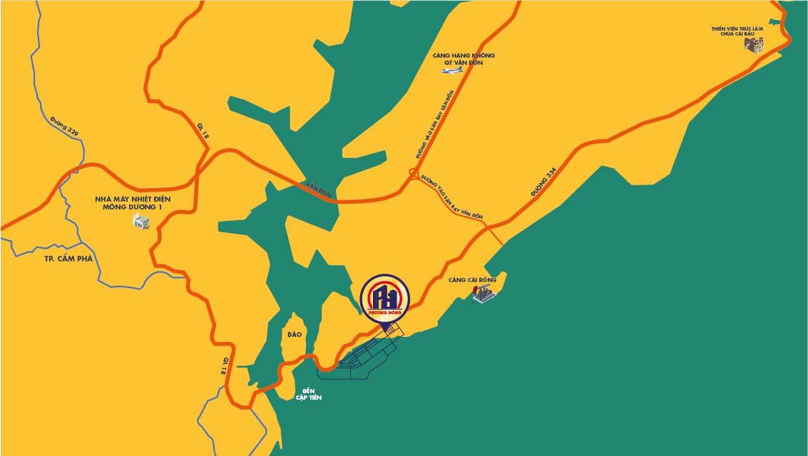 Vị trí khu đô thị Phương Đông - Vân Đồn