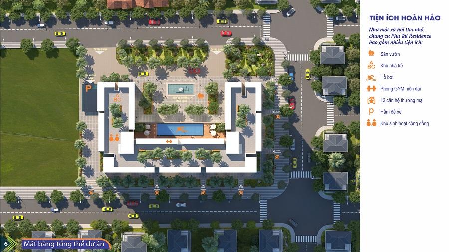 Vị trí dự án chung cư Phú Tài Residence