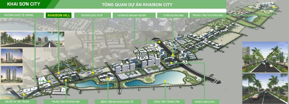 Vị trí dự án Khai Sơn Town