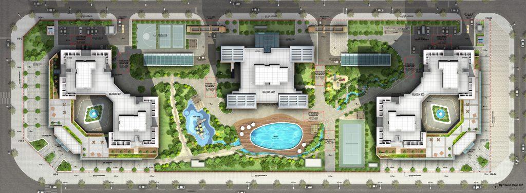 Mặt bằng thiết kế dự án chung cư Starlake Tây Hồ