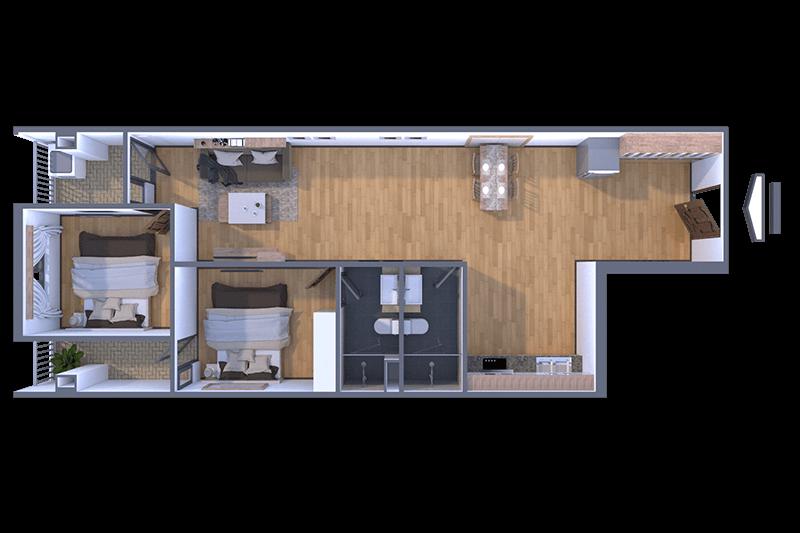 Thiết kế căn hộ 79m2 tại KĐT Green City Bắc Giang