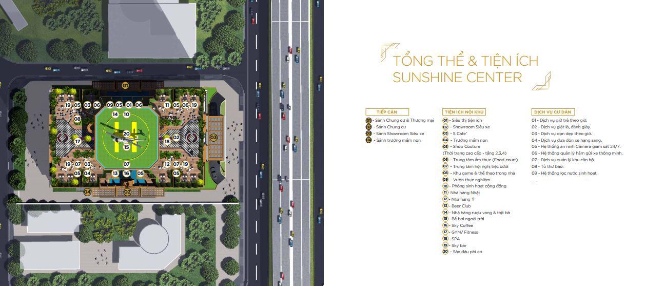 Mặt bằng điển hình dự án Sunshine Center