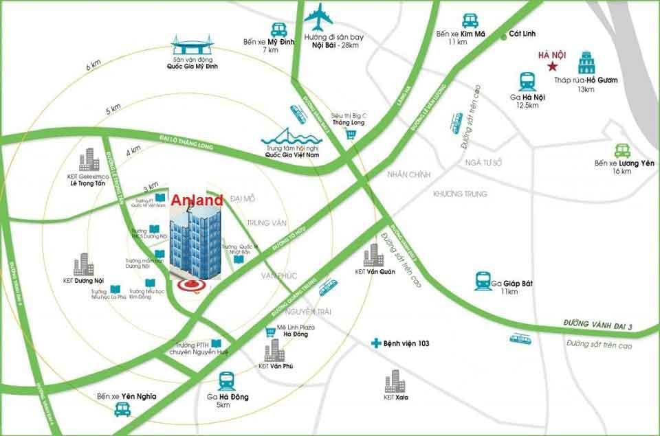 Vị trí dự án chung cư Anland Premium