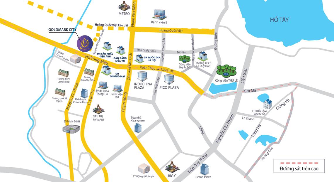 Mặt bằng tổng thể dự án TNR GoldMark City