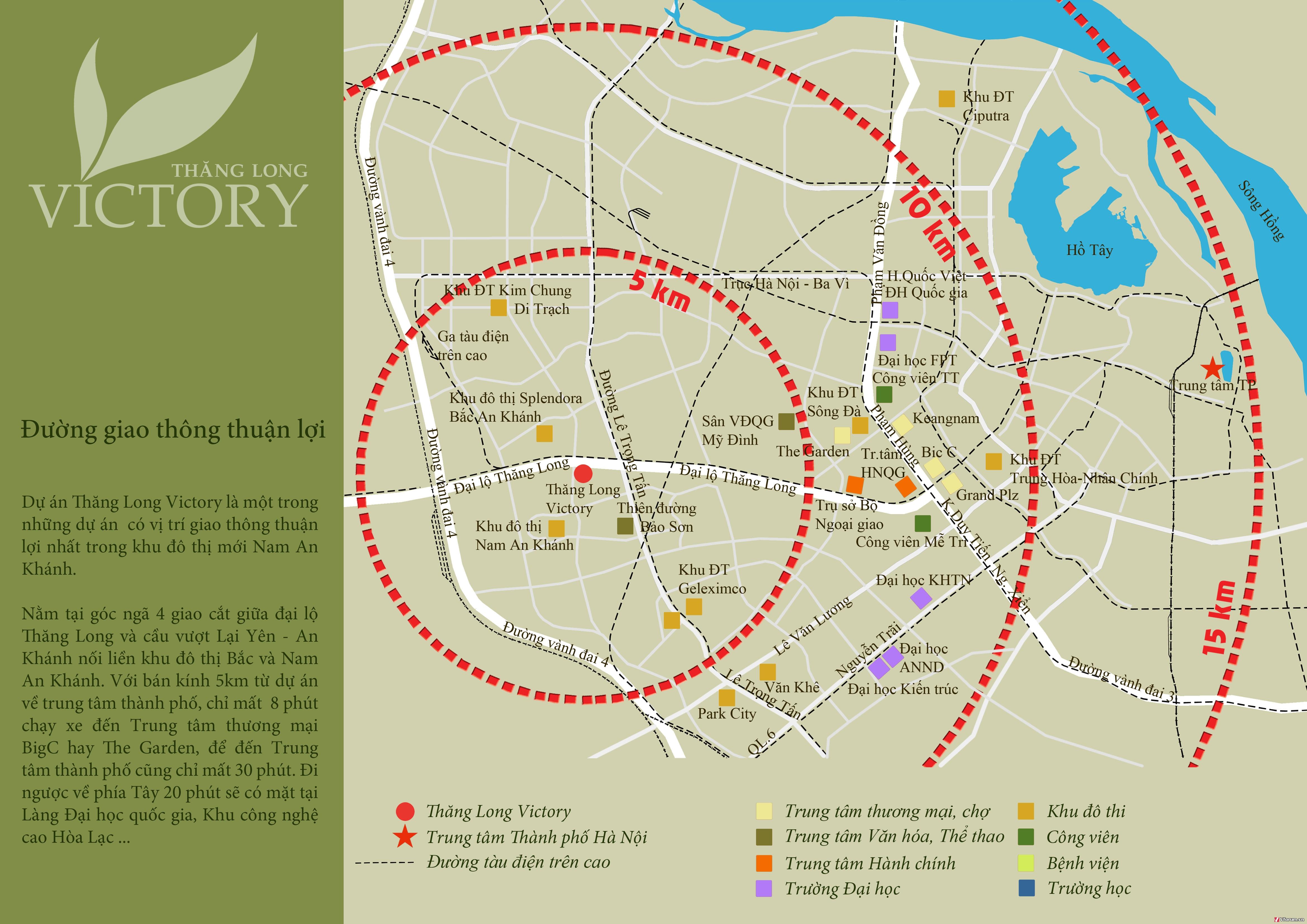 Vị trí dự án chung cư Thăng Long Capital