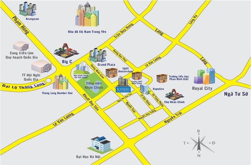 Vị trí dự án Vinhomes Royal City