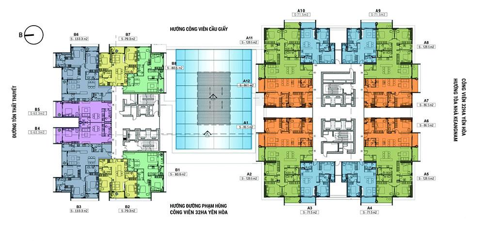Mặt bằng căn hộ chung cư Sky Park Residence