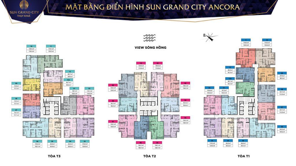 Mặt bằng thiết kế căn hộ Sun Grand City Ancora Residence