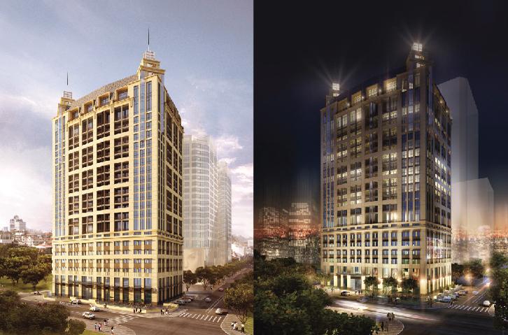 Phối cảnh tổng quan dự án Hoàng Thành Tower