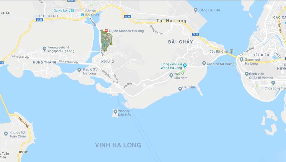 Mặt bằng dự án biệt thự Monaco Hạ Long