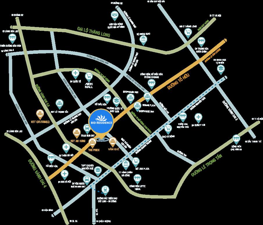 Hệ thống tiện ích chung cư BID Residence