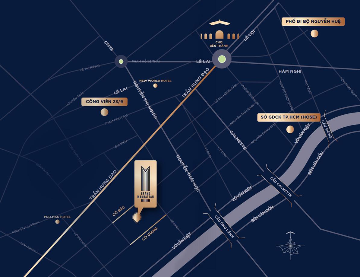 Mặt bằng căn hộ The Grand Manhattan Quận 1