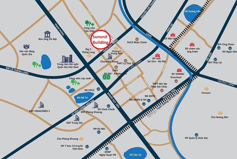 Vị trí dự án Submit Building Trần Duy Hưng