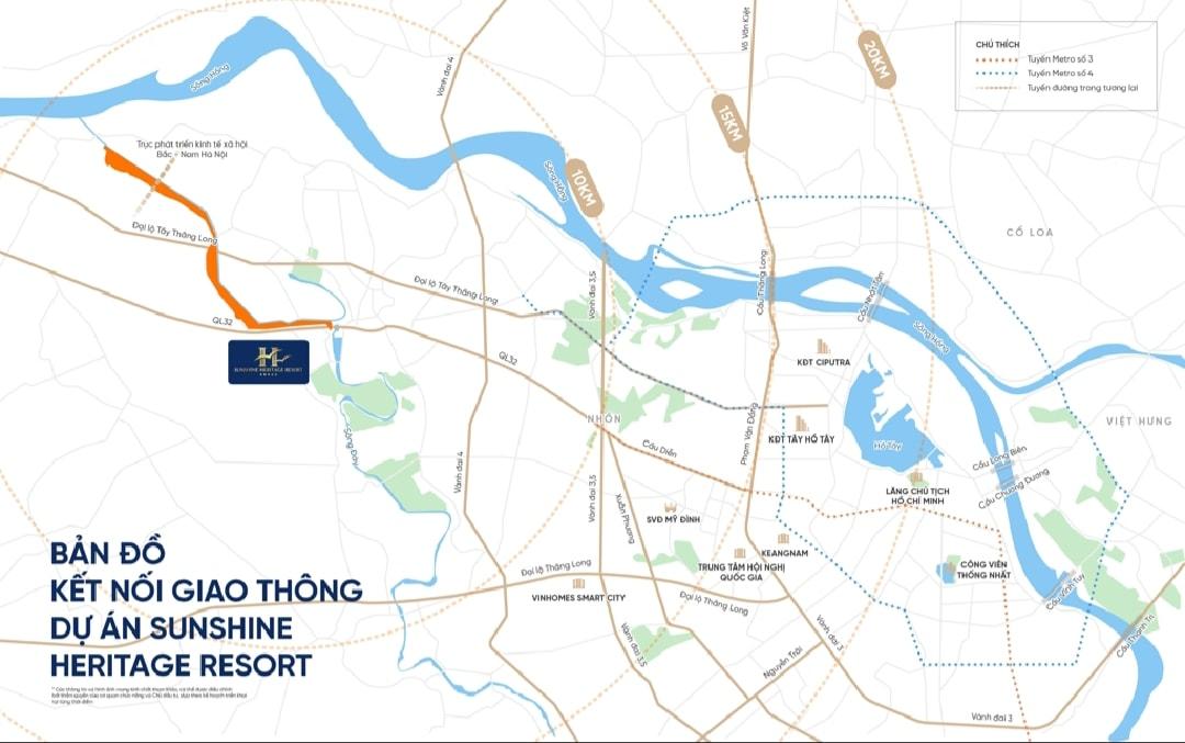 Vị trí dự án Sunshine Heritage Resort Phúc Thọ