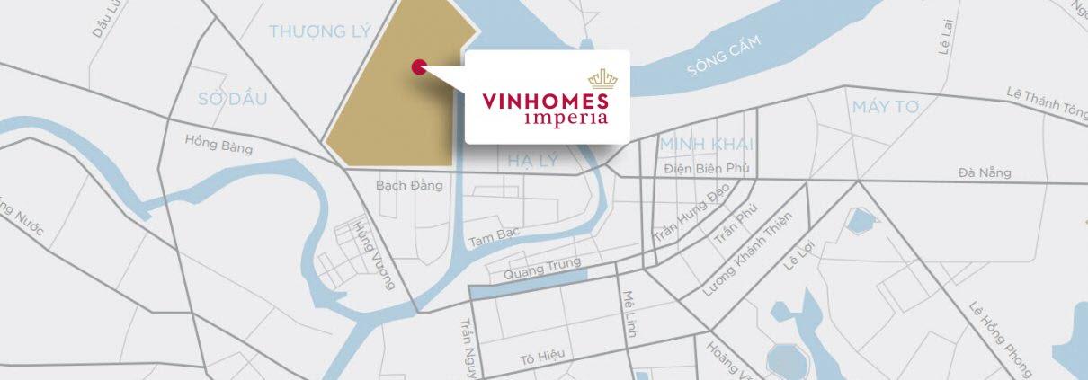 Vị trí khu đô thị Vinhomes Imperia Hải Phòng