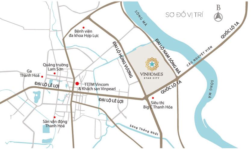 Mặt bằng tổng thể khu đô thị Vinhomes Star City Thanh Hóa