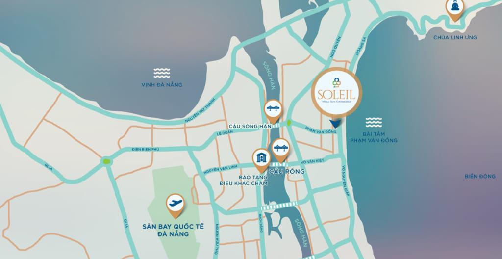 Vị trí dự án Wyndham Soleil Đà Nẵng
