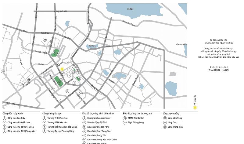 Vị trí khu đô thị Yên Hòa - Cầu Giấy
