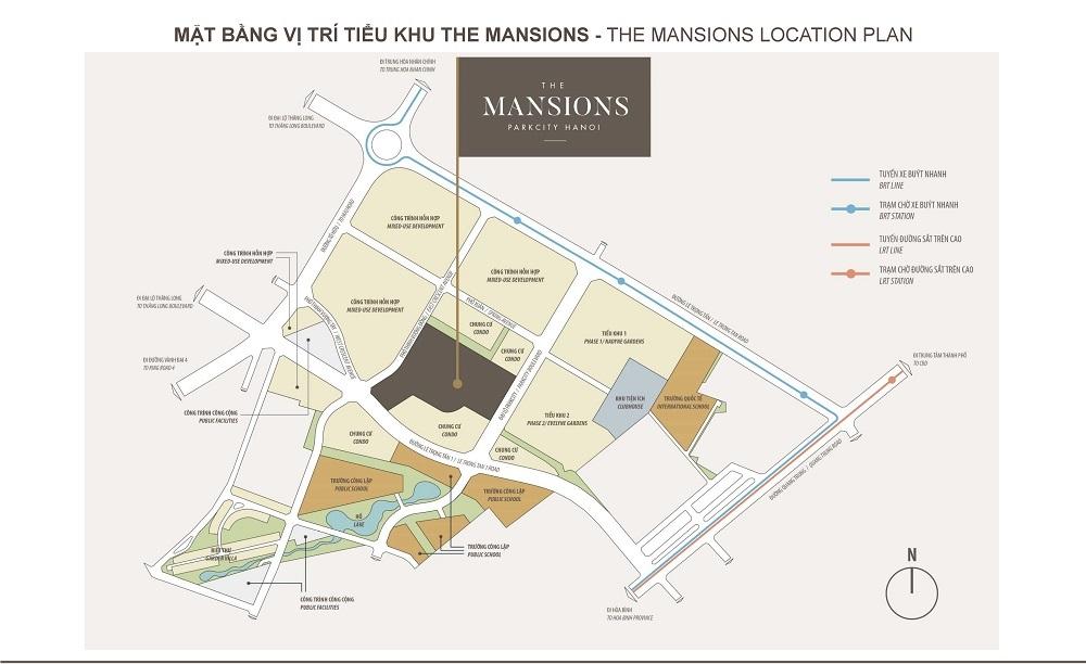 Mặt bằng tiểu khu The Mansions - Park City