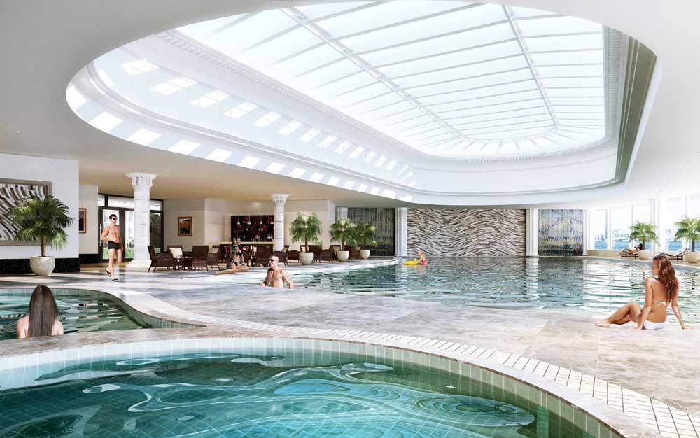 Bể bơi trong nhà chung cư Hateco Apollo Xuân Phương