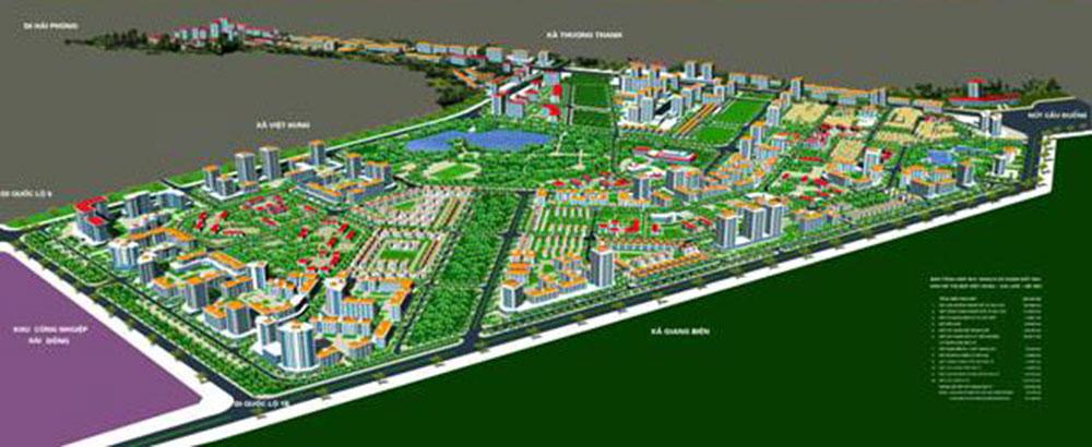 Vị trí dự án khu đô thị Việt Hưng Long Biên