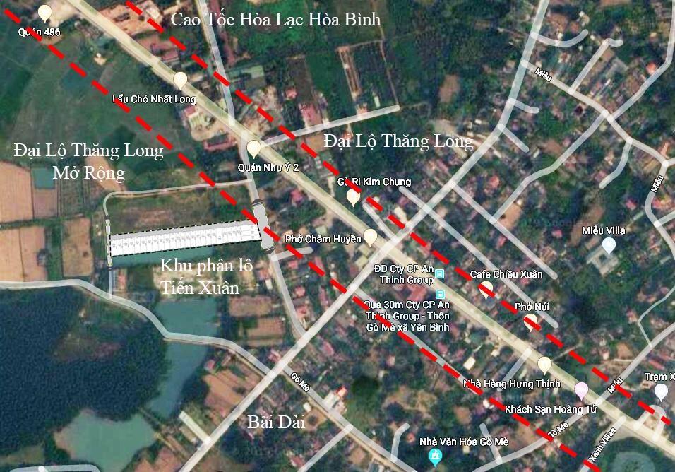 Mặt bằng dự án khu dân cư Hòa Lạc Avenue