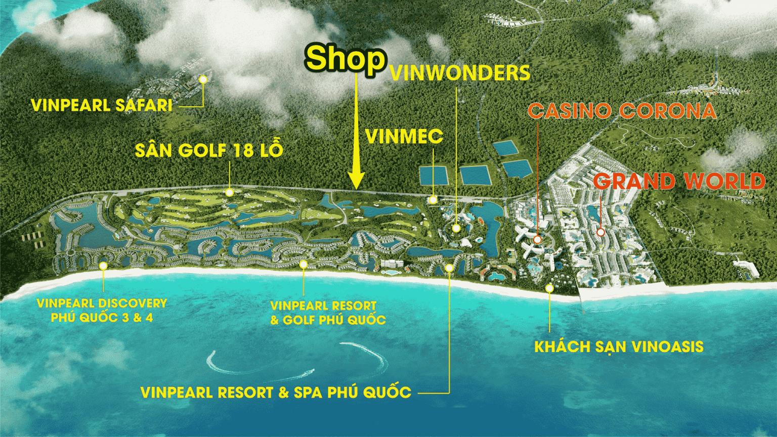 Vị trí dự án Shophouse Vinwonders Phú Quốc